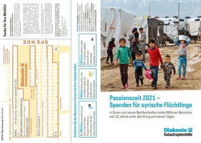 Passionszeit 2021 – Spenden für syrische Flüchtlinge